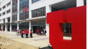 Songdo residents visit Utah Asia Campus for American football watch party