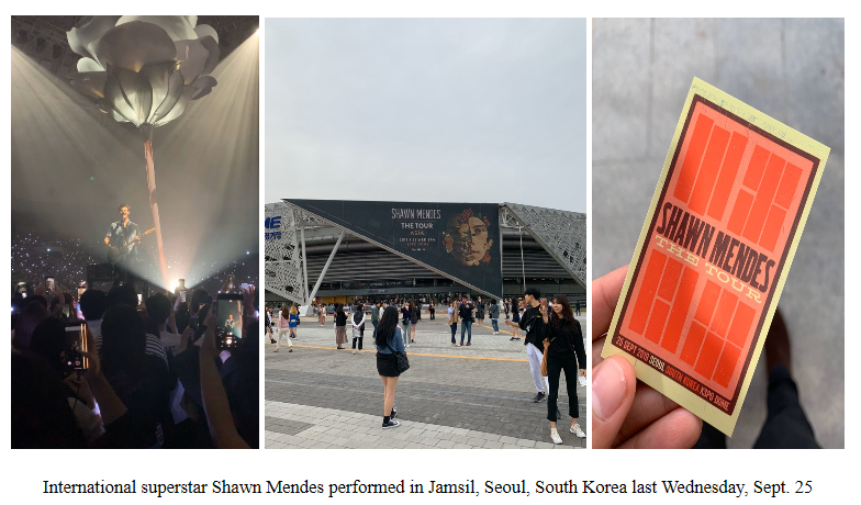 Shawn Mendes in Seoul, South Korea