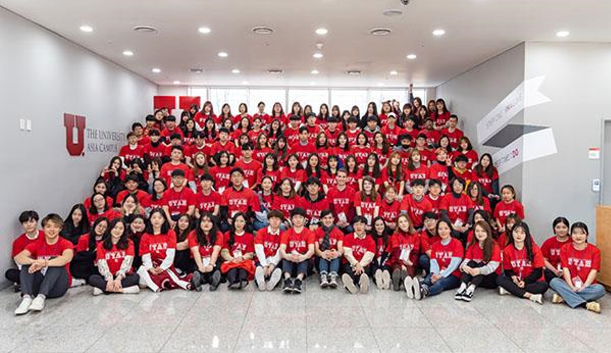 New Student Orientation for the newly registered Spring 2019 students. This was the largest class of international students and largest class in general that has been welcomed to UAC since its inaugural in 2014. (Credit: Utah Asia Campus Official Website)