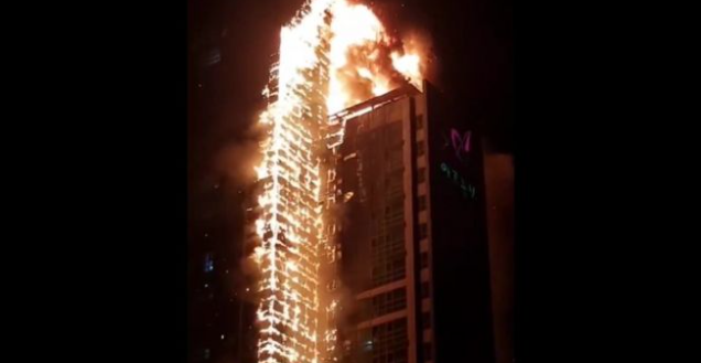 A+fire-ravaged+residential%2Fcommercial+building+in+Nam-gu%2C+Ulsan