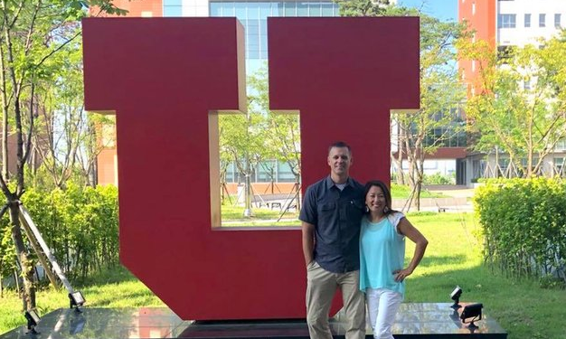 Dr. Greg Hill with wife during his brief stint as visiting professor at UAC in summer 2018 (Courtesy: Google Image).