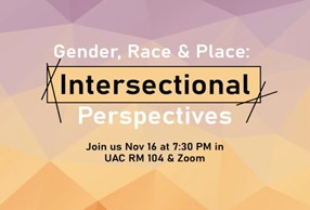 Discussion panel about Gender, Race, and Place: Intersectional Perspectives at University of Utah Asia Campus (UAC). The four panelists were Iaras Belen, Mel Watkins, Erica Butler, and Annie Ham. (Image Courtesy of UAC Event Website)