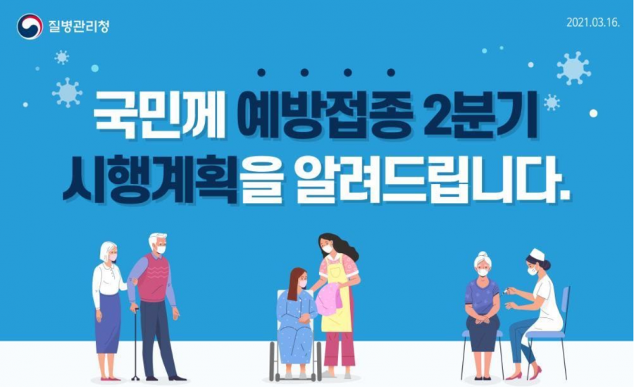 The characters indicate the elderly, serious cases, and health professions. Korea Disease Control and Prevention Agency (KCDA) share its plan for 2nd quarter vaccine injections (Credit: Korea Disease Control and Prevention Agency)