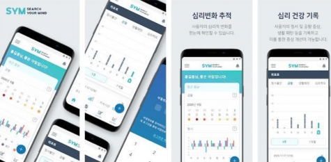The main images of the inPHRsym application in the IOS app store, showing people the basic explanation of the app. Image courtesy of Sejong Chungnam National University.
